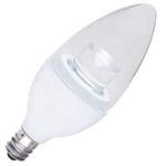 LED 5W Clear Torpedo Dimmable Candelabra E12 base 27K Warm White