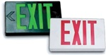 LED Exit Sign with White Housing and Red Letters