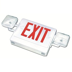 Combo LED Exit-Emergency Light - Red Letters