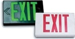 LED Exit Sign with Black Housing and Red Letters